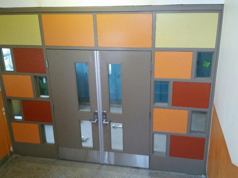 Portes intérieures, mise aux normes - École primaire